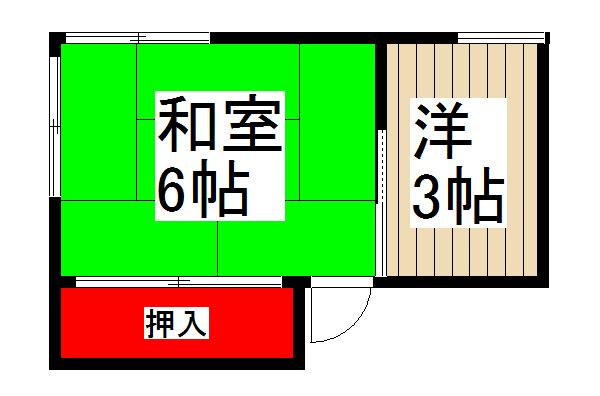 稲垣荘 201号室 間取り