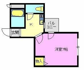 シーサイドマンション 302号室 間取り