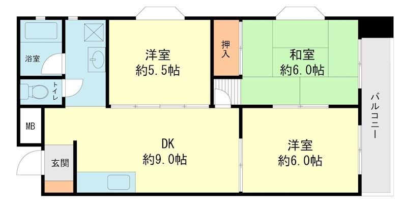 第3入江ビル 東雲壱番館 間取り図