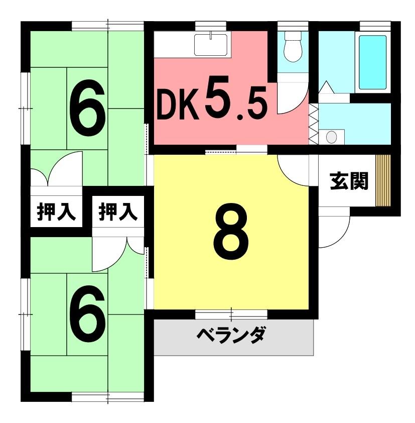 コーポ・アトムラ 間取り図