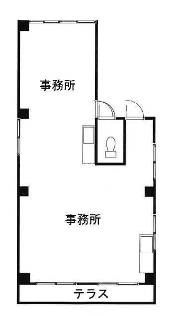 松末ビル  3号室 間取り