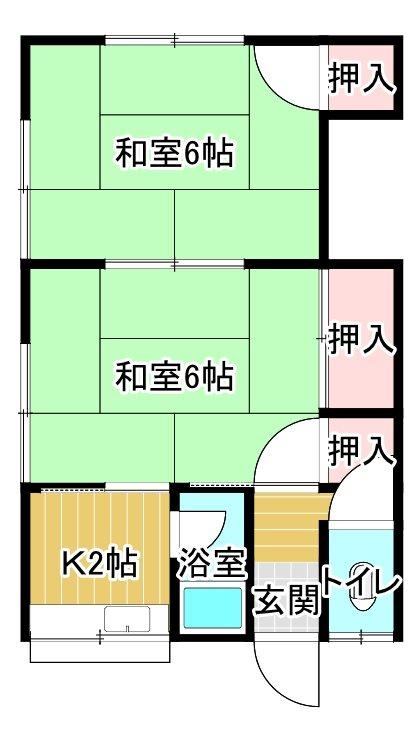 熊田アパート 5号室 間取り