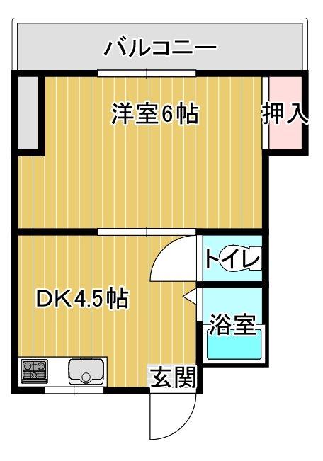 パピヨンM 302号室 間取り