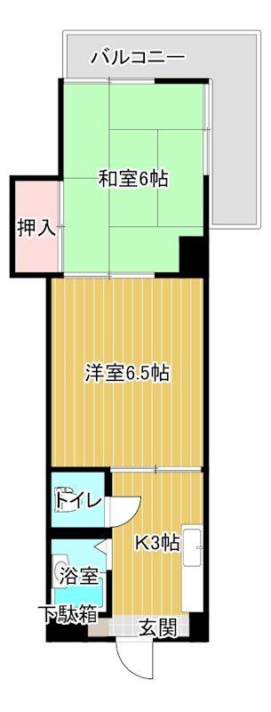池田マンション 603号室 間取り