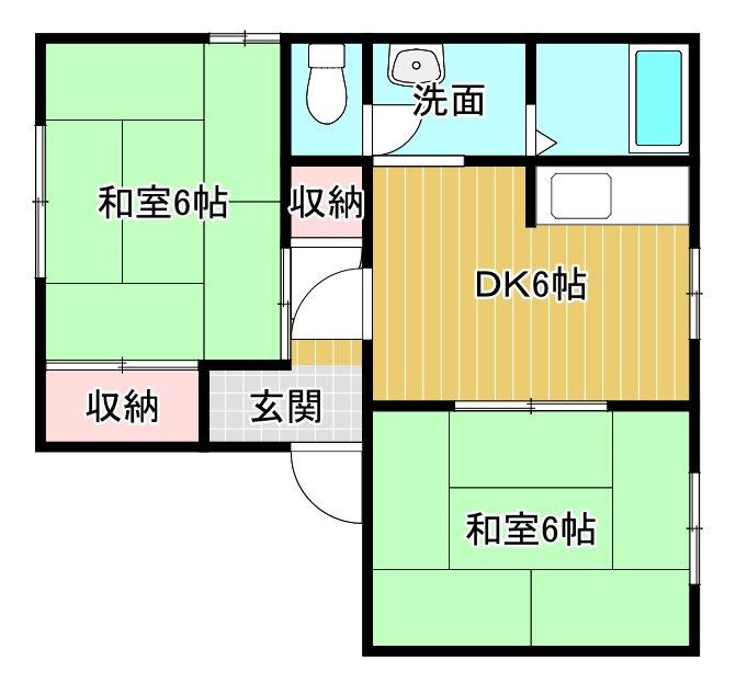 広栄中西マンション B105号室 間取り