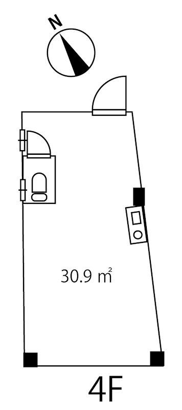 池袋2丁目ビル 4階号室 間取り