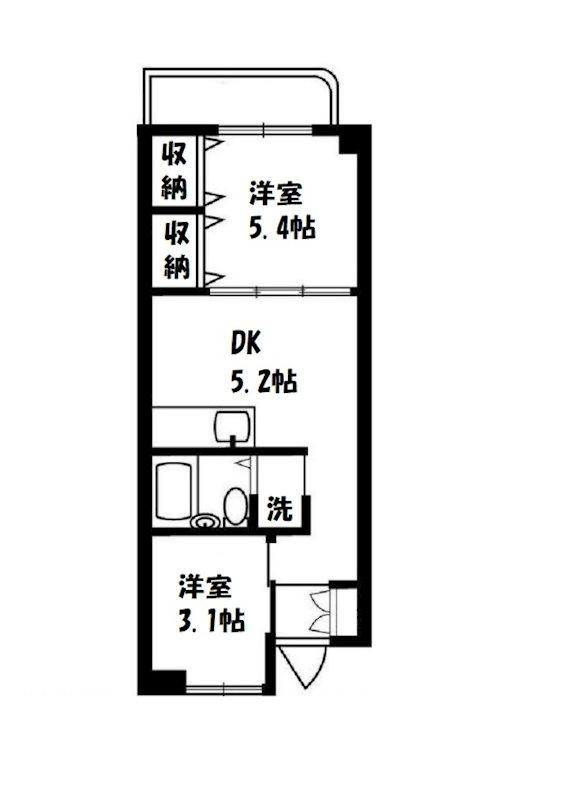仙台坂アルカディア 404号室 間取り
