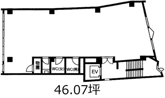 赤坂光映ビル 3F号室 間取り