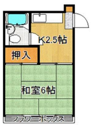 松林コーポ 122号室 間取り