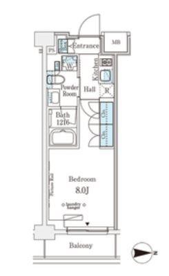 ウエリスアーバン中野坂上 420号室 間取り