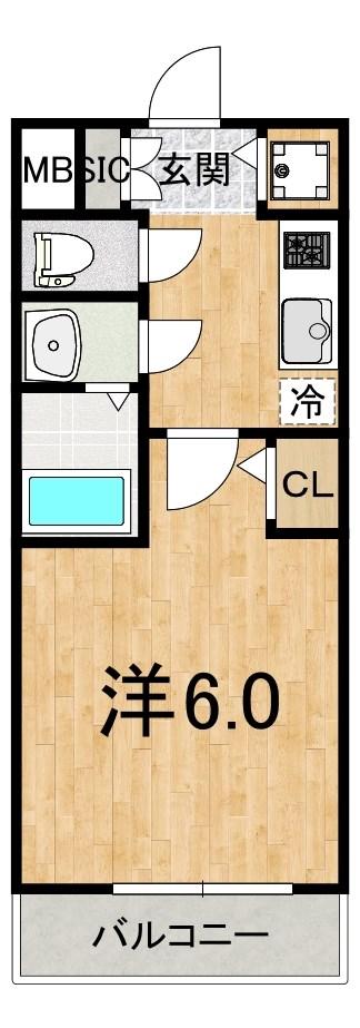 S-RESIDENCE江坂Crescent 間取り