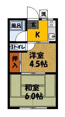 平田マンション 302号室 間取り
