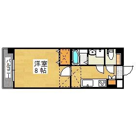 ORIENT BLD No.87 マリア-ジュステーション 517B号室 間取り