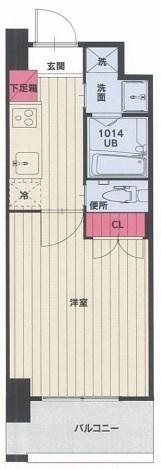 No102 CLUB ORIENT 406A1号室 間取り