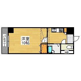 №31 G-プロジェクト天神 807号室 間取り