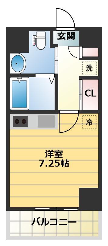 ルネ日本橋アネーロ 705号室 間取り