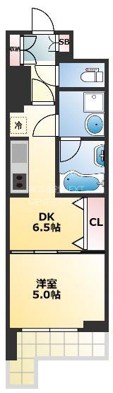 BRAVI南堀江 402号室 間取り