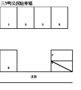 三ヶ町公民駐車場 1~7号室 間取り
