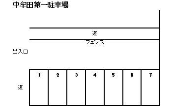 中牟田第一駐車場 1~7号室 間取り