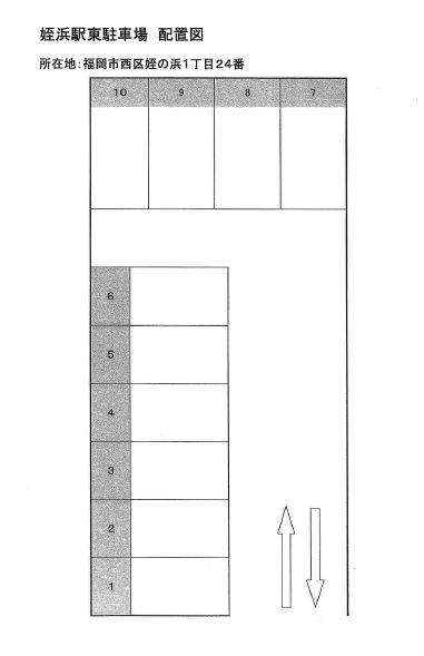 姪浜駅東サワライズ駐車場  1~10号室 間取り