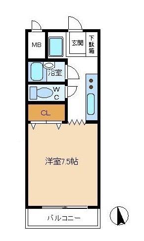 ロイヤル植田 間取り図