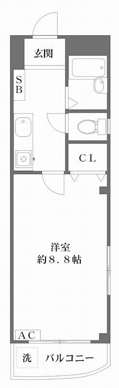 アーバンステージ高島平 403号室 間取り