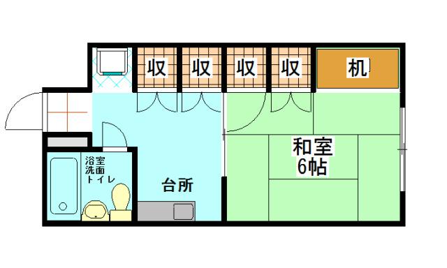 コーポアビケンナ 202号室 間取り