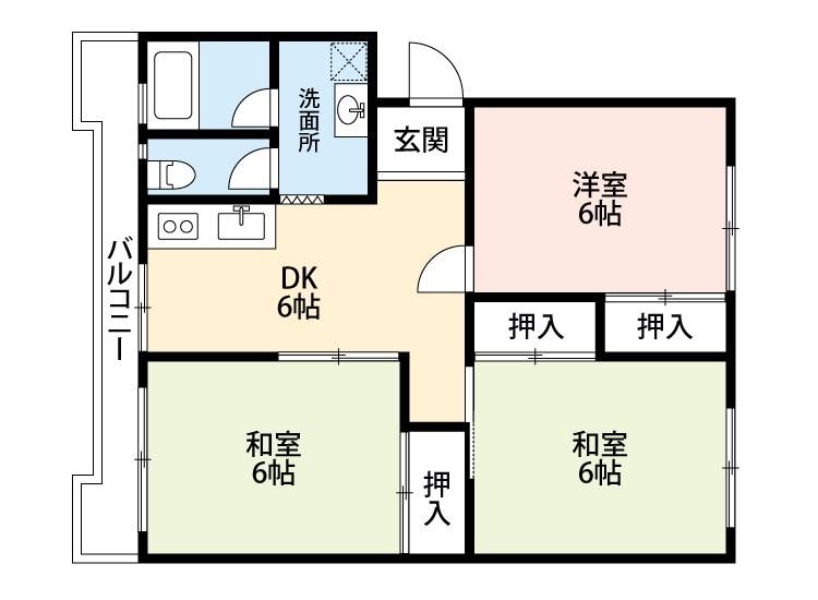 梅田マンション 107号室 間取り