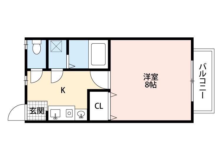 PLACE21(プレイス21) 101号室 間取り