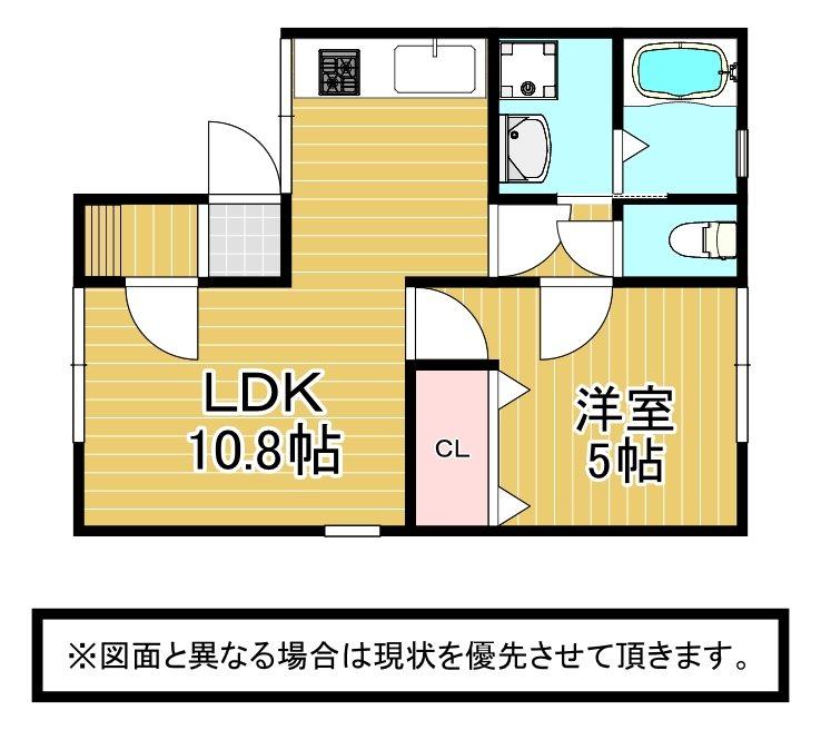 K-room 間取り図
