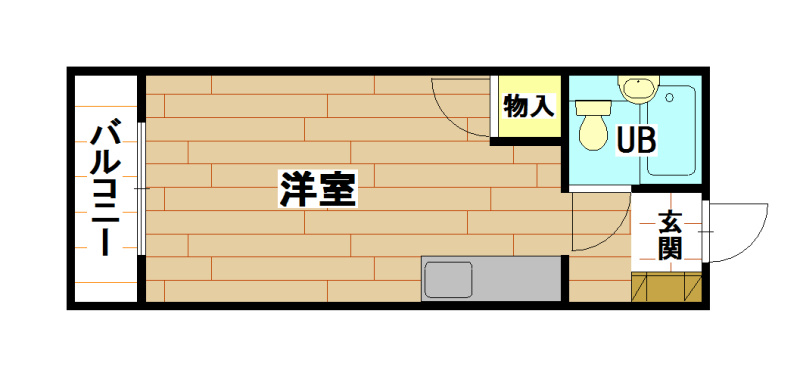 京町スカイマンション 401号室 間取り