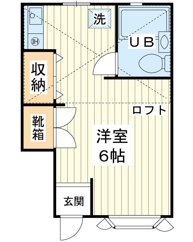 ローズアパートB棟 間取り図