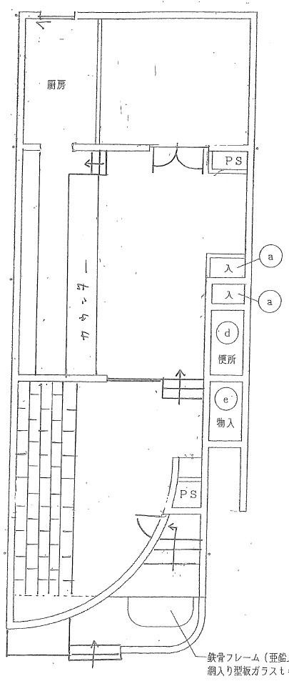 総社市中央4丁目 テナント1階部分 間取り