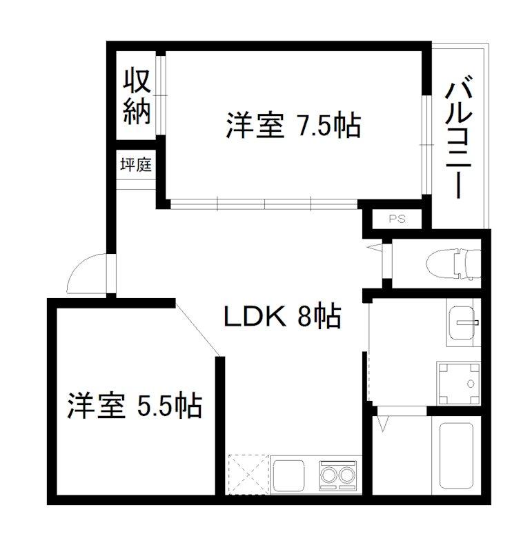 HOTEL AMARANTHUS京都五条 間取り