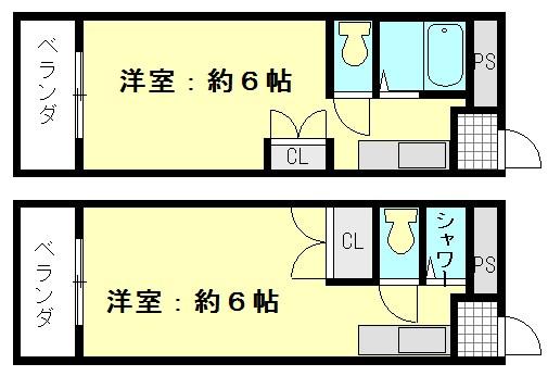 ベルハイム小阪 間取り図