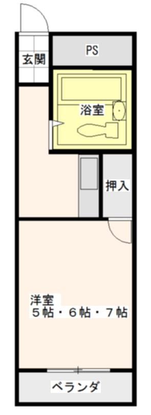 大宝菱屋西ロイヤルハイツ 間取り図
