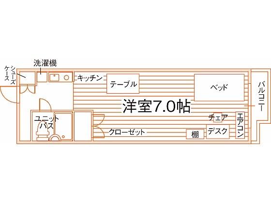 京都学生会館リバティサークル西京極 間取り図