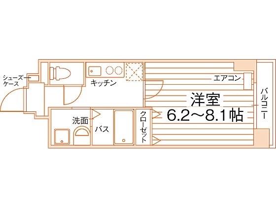 Grand E'terna 京都西京極 間取り図