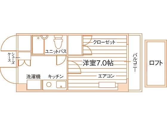 シティパレス京都三条 間取り図