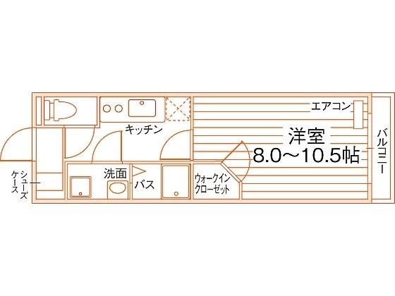 Uni E'terna 京都壬生 間取り図
