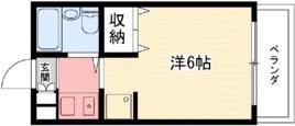 エクセレント武庫川 間取り図