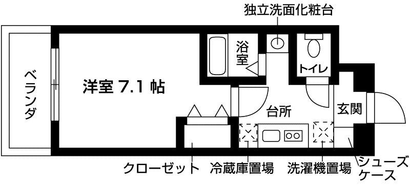 レジディア神戸ポートアイランド サウス 間取り図