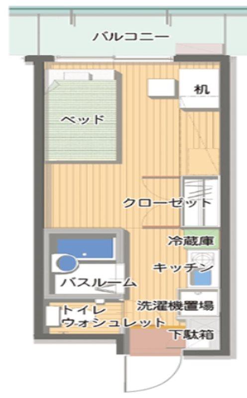 神戸女子学生会館 間取り図