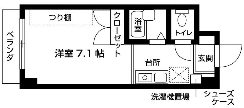 ハーバーステージ神戸元町 間取り図