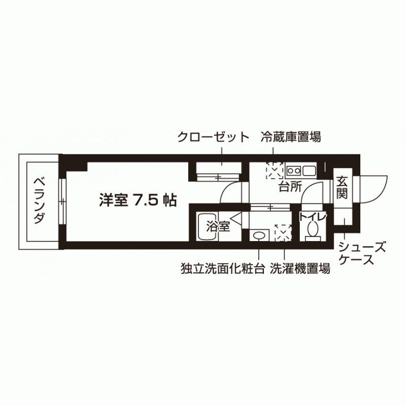 アーバンエース六甲山田パル 間取り図