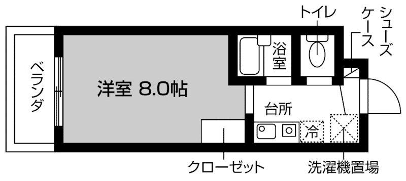 ピュアパレス江戸川台 間取り図
