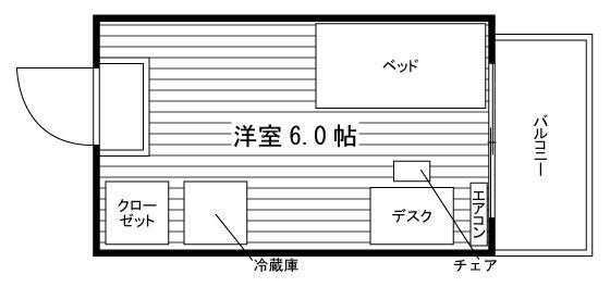 (仮称)南柏駅前マンション  7階寮タイプ 間取り図
