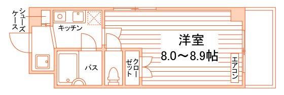 スチューデント永田 間取り図