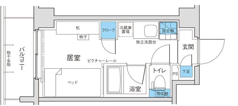 キャンパスヴィレッジ京都西京極 間取り図