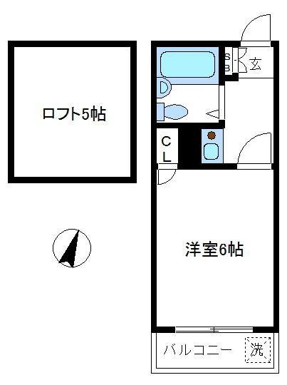 ペンションハウスコスモス21 203号室 間取り